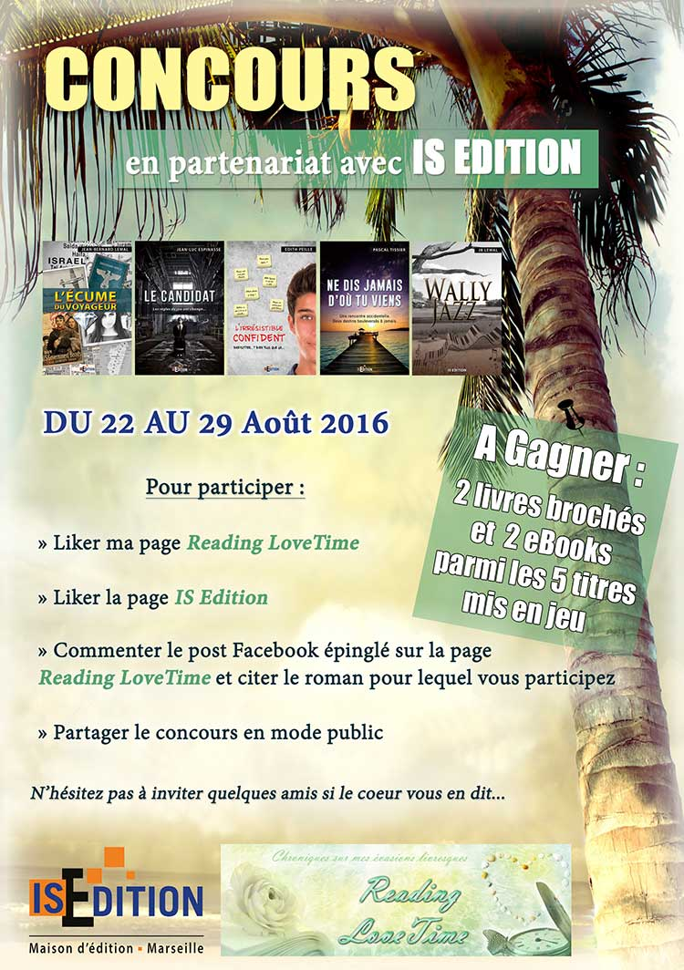 Jeu-concours Reading Love Time - IS Edition